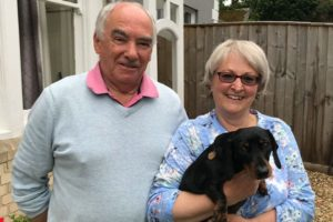 John Beaumont with his partner Barbara and their miniature dachshund Chicca.